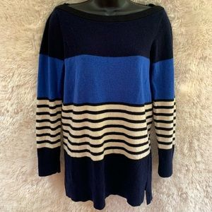♠️ Kate Spade Cashmere/Wool Blend Size S Block Stripped Sweater.